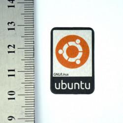 Autocollant Ubuntu métallisé