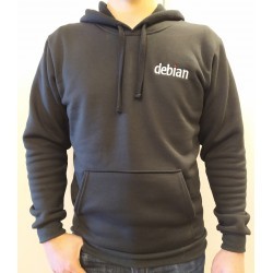 Sweat-Shirt Debian Mixte Noir