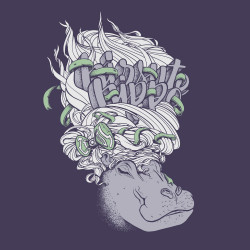 T-Shirt Ubuntu Hirsute Hippo