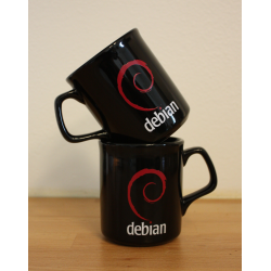Mug Debian noir